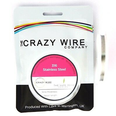 0.08mm (40AWG) - Comp SS316 (Marine Grade Stainless Steel) Wire - 153.39 ohms/m