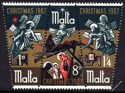 Malta 1967 Christmas Complete Set SG 393 - 395 Unmounted Mint