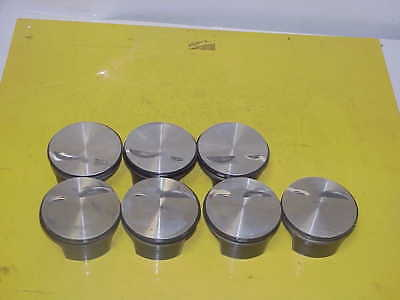 "7 Mahle Lightweight SB Ford Flatop Pistons 4.050"" Bore 1.350"" CH- 927"" Pin N351"