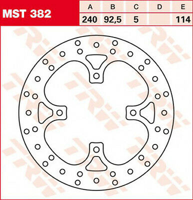 TRW / Lucas Brake Disc Rear with Abe for Yamaha YP 125 250 X-Max