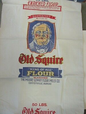 Old Squire flour Moore-Lowry Flour Mills Coffeyville, KS