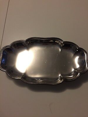Silver Footed Serving Platter From English Silver Mfg Corp ~ Made In Usa