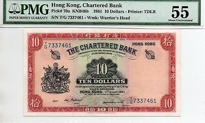 Chartered Bank ten dollars 1961 key date in PMG 55 RARE