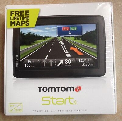 TomTom Start 25 M Central Europe Navigationssystem Navi Karten für 19 Länder
