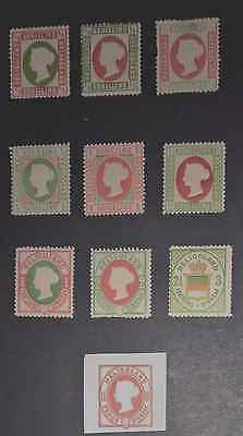 Mint Heligoland 1869-1890 Inc 1 Proof. 10 Stamps.