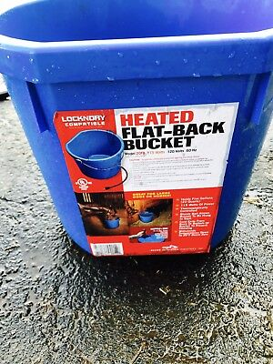 Heated Water Bucket Livestock Horse Oversized Flat Back Equine Heater Gallon 5