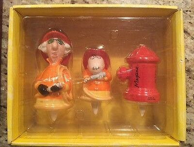 Hallmark Maxine Floyd and fire hydrant 3 pc cake toppers New