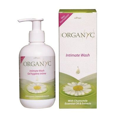 Organyc Intimate Wash New Formulation  250ml - with Camomile Essential Oil