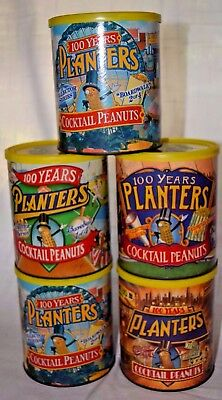 Planters Peanuts 100 Years Anniversary Cans Full Set +