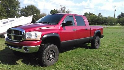 2006 Dodge Ram 3500 SLT 2006 Dodge Ram 3500 Mega Cab SLT 4x4 6sp Lifted Red