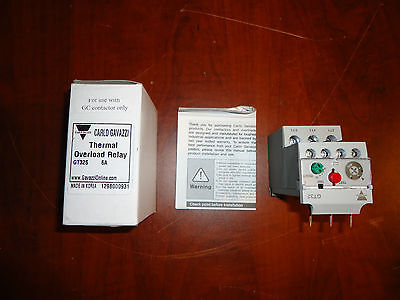 CARLO GAVAZZI THERMAL OVERLOAD RELAY GT32,  4 - 6,Amp NEW IN BOX
