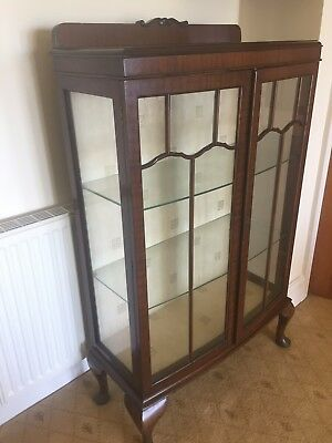 Display Cabinet  on legs Antique
