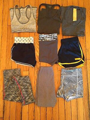 Junior Women Athletic Clothing Lot 9 Pieces PreOwned