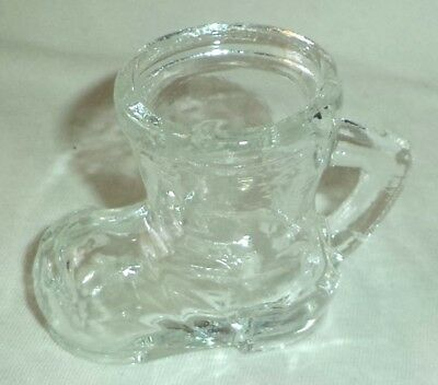 Glass Toothpick Holder Boot with Handle
