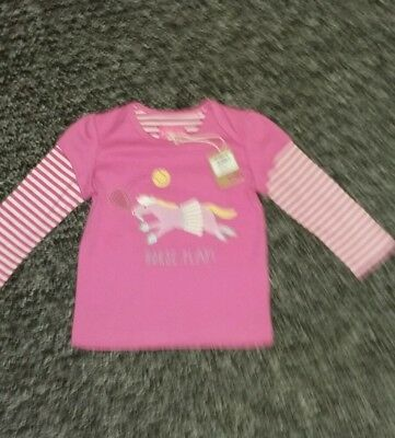 Joules  baby girl long sleeved  top  9-12 months BNWT