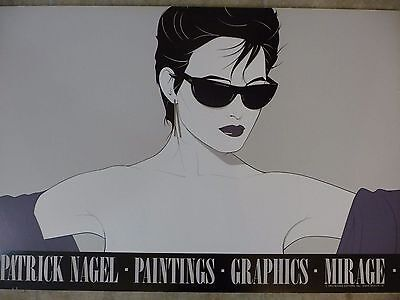 Patrick Nagel Serigraphie Plakat - Mirage 1983 - Woman with sunglasses