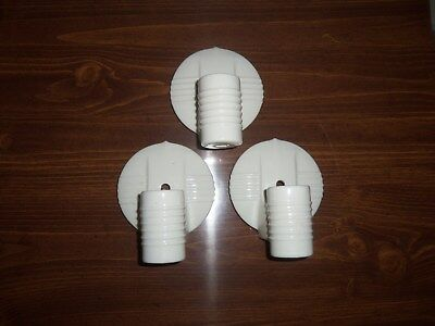 Porcelain Wall Light Fixture ART DECO Bathroom Outlet Pull Chain