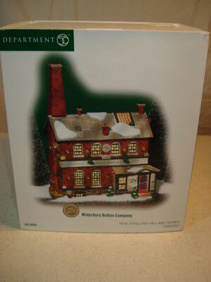 Dept 56 New England Village Series Waterbury Button Company #56.56666