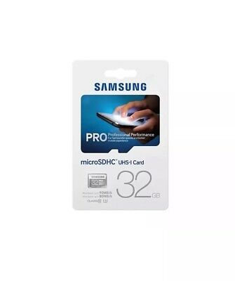 Samsung Pro 32GB  SDHC UHS -1 Memory Card For Cameras Camcorder 4K Video Tablet
