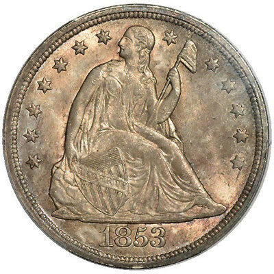 1853 $1 Liberty Seated Dollar OC-1,R.2 PCGS MS64 CAC
