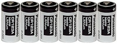 Panasonic Industrial CR123A Lithium Battery 3V 6 Pack