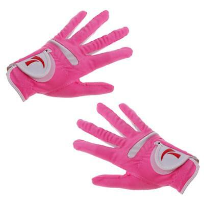 Women's Golf Glove L One Pair,Anti-Slip and Breathable,Soft and Comfortable