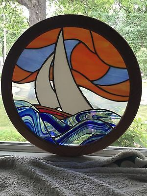 Stained-glass Window Hanging Nautical Decor Sailboat