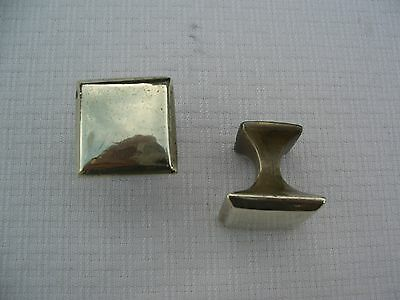 Vintage Heavy Solid Brass Drawer Pulls (2)