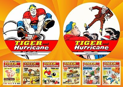 Tiger & Hurricane UK Comics ON Two DVD Rom's
