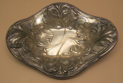 Antique -  Unger Brothers - Sterling Silver Candy Dish with Floral Pattern 02630