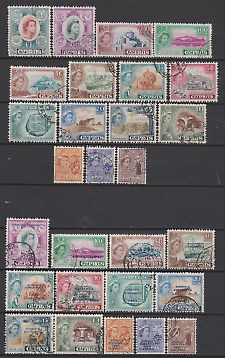 Cyprus 1955/60 Collection Used to £1