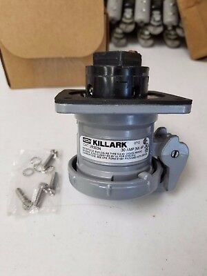 Killark VR3034 30Amp, 4-Pole, 3-Wire Receptacle Assembly
