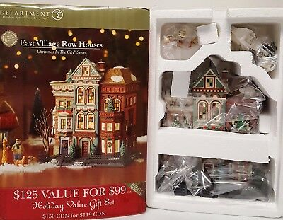DEPARTMENT 56 Christmas in the City EAST VILLAGE ROW HOUSES #59266 LIMITED ED
