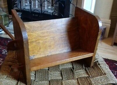 Vintage oak table top bookshelf Arts and Crafts Lovely colour, hand made