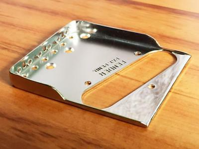 Fender Telecaster Bridge Plate w/ Hybrid Double Notches & Drilled for Top-Load