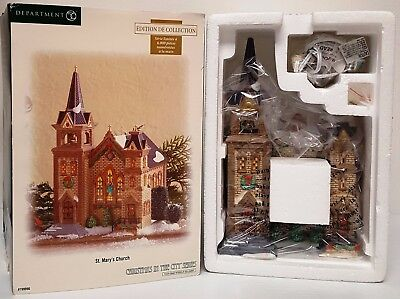 Dept 56 Christmas In The City - St. Mary's Church 799996 Ltd Ed Numbered Mint
