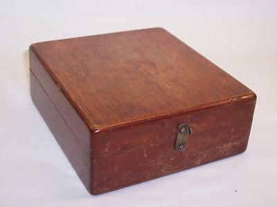 Antique/Vintage MAHOGANY WOOD BOX Lined & With Brass Catch & Hinges