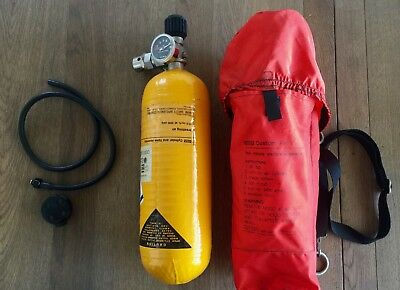 "Vintage MSA Firefighter's PPE air tank ""No mask""SCBA Paintball Mountain Climbing"
