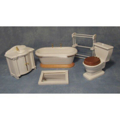 Dolls House Miniature 1:12th Scale 5 Piece Bathroom Set