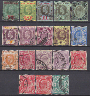 Straits Settlements 1906 Used Part Set to $5 Cat £200