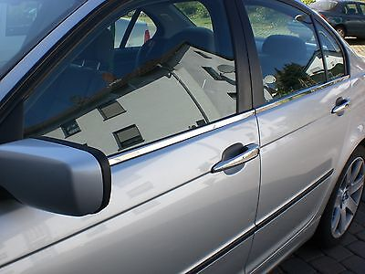 BMW E46 Chrome Door Handle Cover Set (4 doors) 2001-2005 Stainless Steel (UK)
