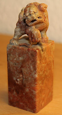 China Shou Shan Hardstone Stempel Seal Petschaft Stempel carved Foo Dog chinese