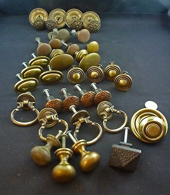 Large Lot Victorian Drawer Pulls, Vintage and Modern, 32 Pieces