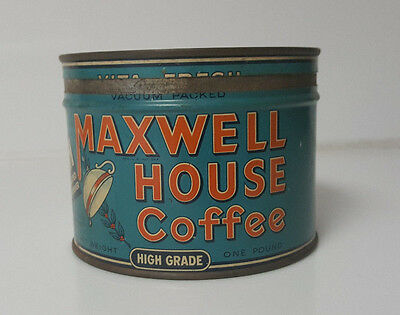 Vintage Coffee Tin Maxwell House Coffee 1lb high grade