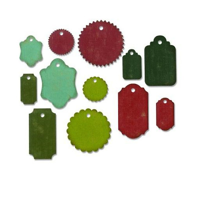 Sizzix Thinlits Die Set 12PK Gift Tags 662423 Tim Holtz