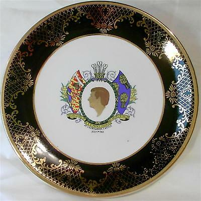 Vintage China Plate 1969 Investiture HRH Prince Charles Wales Weatherby Hanley