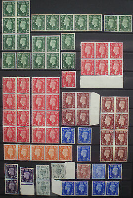 GB KGVI Collection Definitives in Blocks Singles