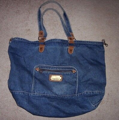 CAPEZIO LARGE DENIM tote bag. Perfect for gym, weekends and more!  21 x 11 x  11