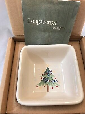 Longaberger Pottery All The Trimmings Candy Dish Christmas Holiday - NIB
