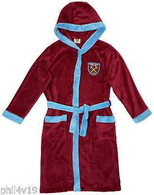 West Ham United kids dressing gown / Childrens football bath robe (childs boys)
